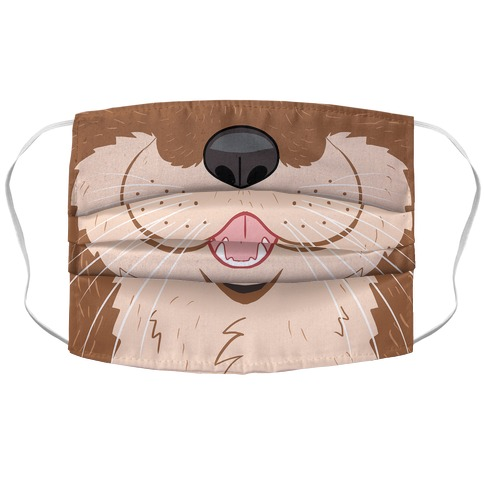 Otter Mouth Accordion Face Mask