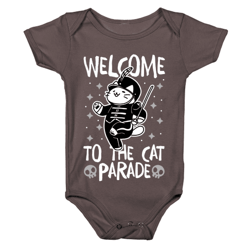 Welcome to the Cat Parade  Baby One-Piece