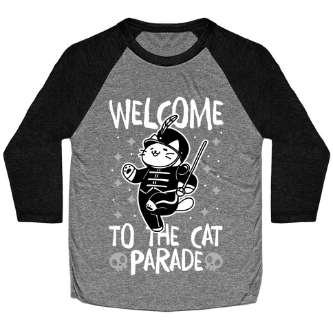Welcome to the Cat Parade Baseball Tee