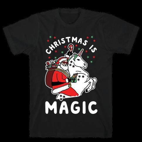 Christmas is Magic Mens T-Shirt
