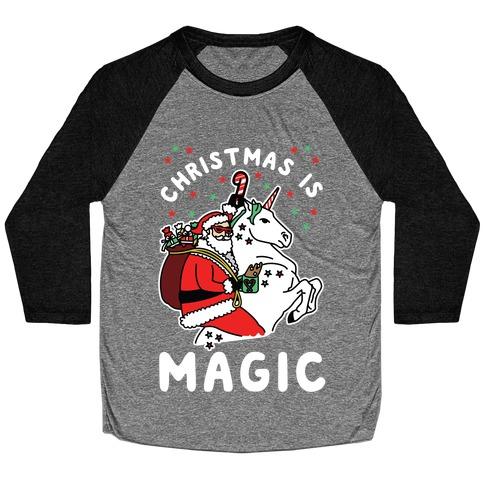 Christmas is Magic Baseball Tee