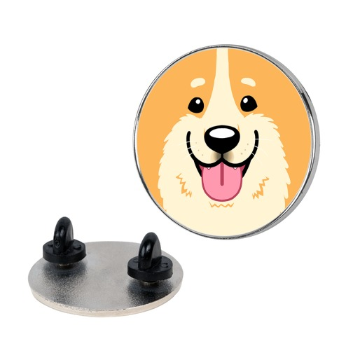 Corgi face Pin