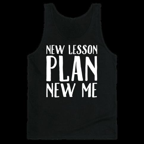 New Lesson Plan New Me White Print Tank Top