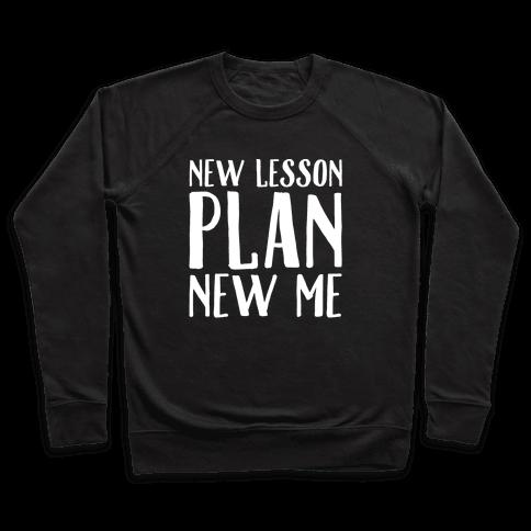 New Lesson Plan New Me White Print Pullover