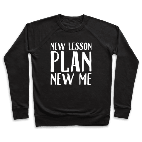 New Lesson Plan New Me White Print Pullover