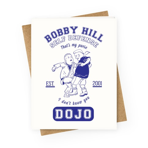 Bobby Hill Self Defense Dojo Greeting Card