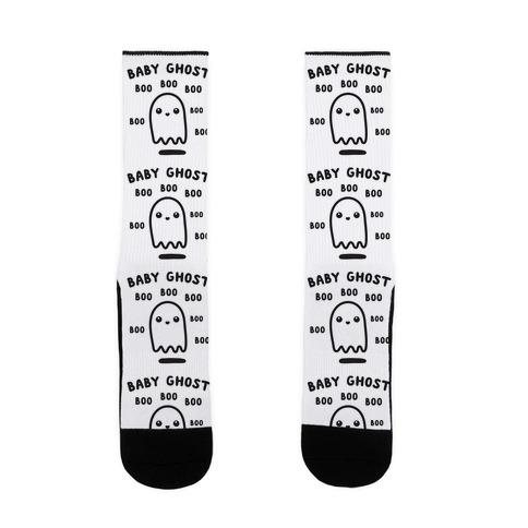 Baby Ghost Boo Boo Boo Sock