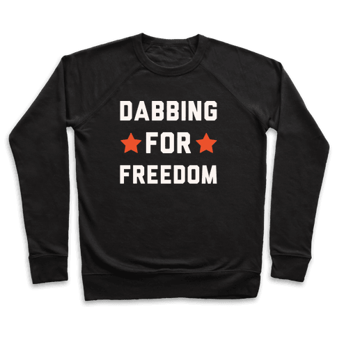 Dabbing For Freedom White Print Pullover
