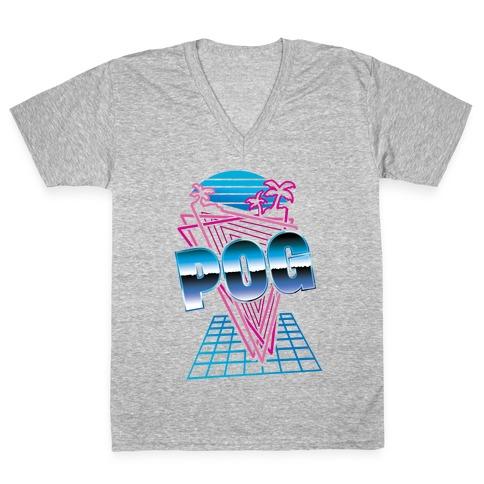 Retro Pog V-Neck Tee Shirt