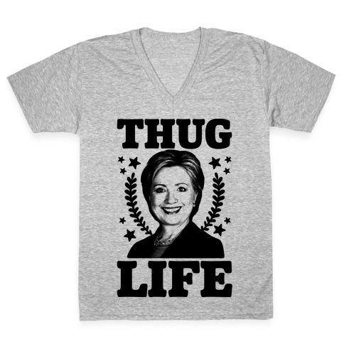 Thug Life HRC V-Neck Tee Shirt