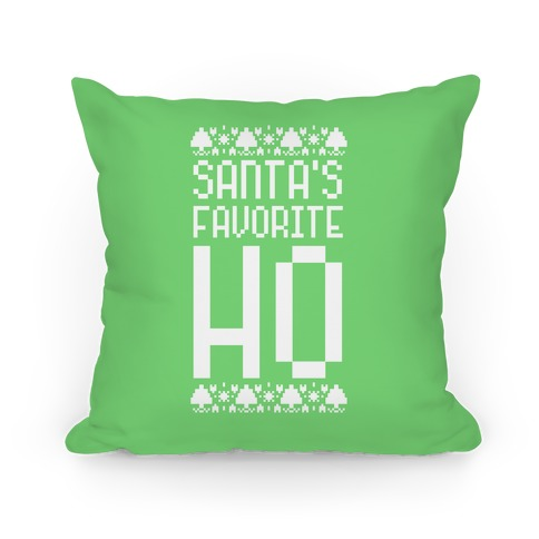 Santa's Favorite Ho Pillow