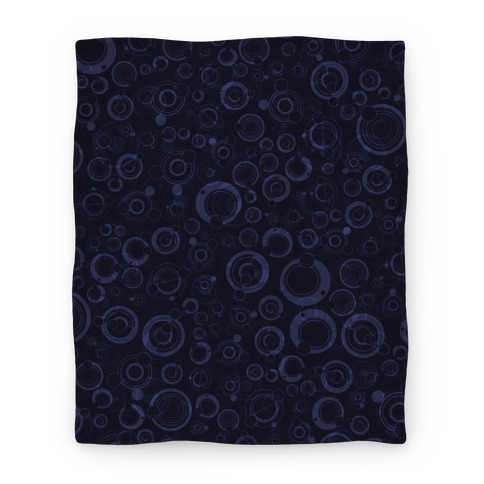 Gallifreyan Text Pattern Blanket