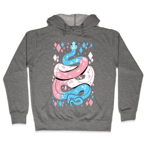 Pride Snakes: Trans Hooded Sweatshirt