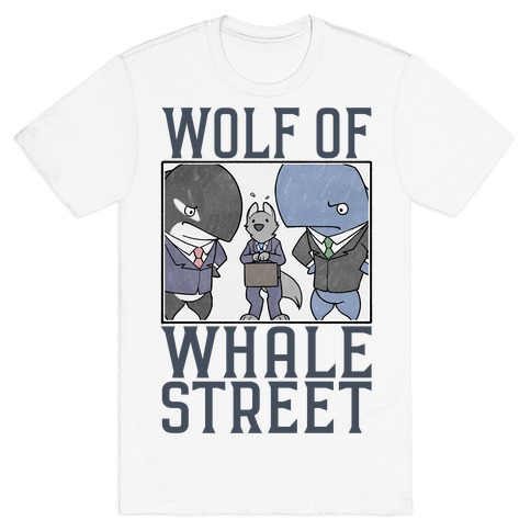 Wolf Of Whale Street Mens/Unisex T-Shirt