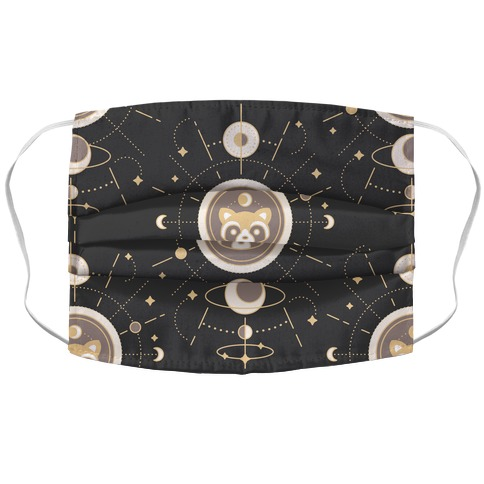Raccoon Moon Accordion Face Mask