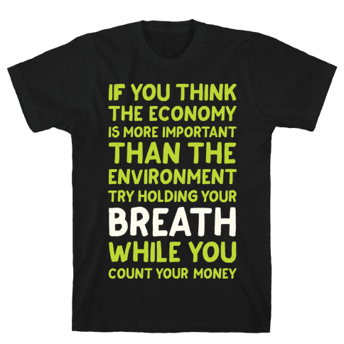 Try Holding Your Breath Mens T-Shirt