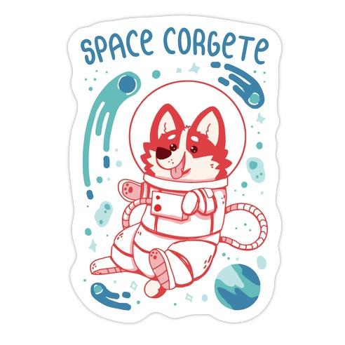 Space Corgete Die Cut Sticker