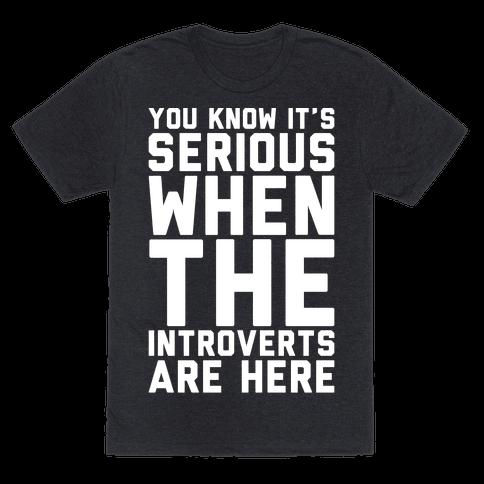 Introvert Protest White Print