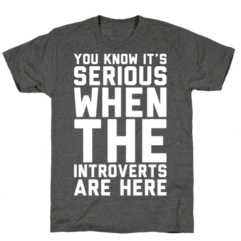 Introvert Protest White Print T-Shirt