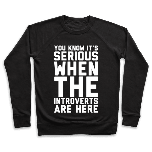 Introvert Protest White Print Pullover
