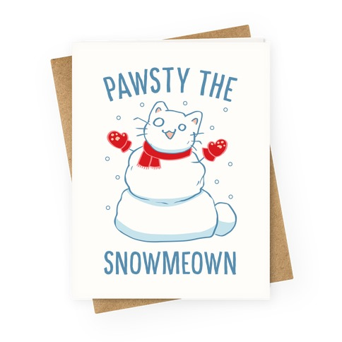 Pawsty The Snowmeown Greeting Card