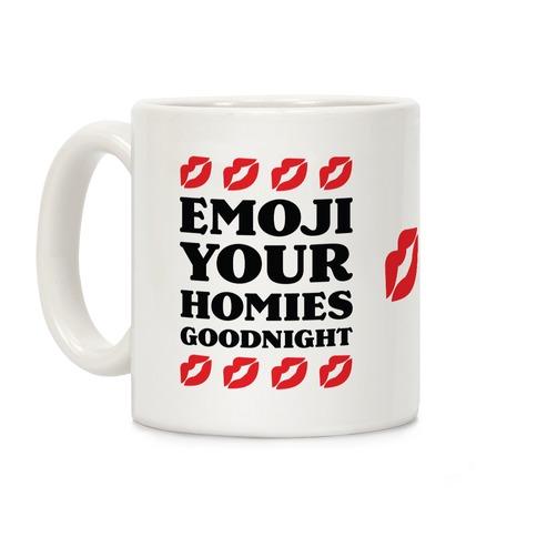 Emoji Your Homies Goodnight Coffee Mug