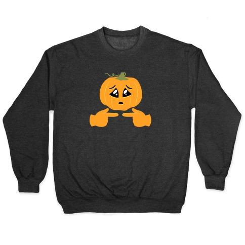 Shy Emoji Jack-o-Lantern Pullover