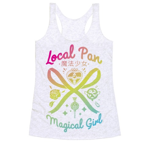 Local Pan Magical Girl Racerback Tank Top