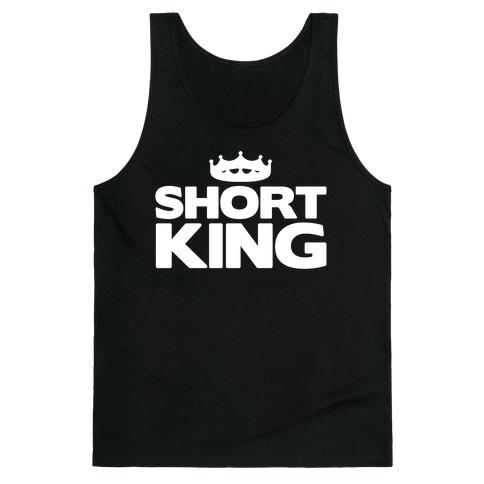 Short King White Print Tank Top