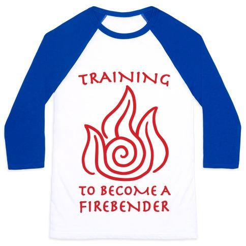 Training to Become A Firebender Baseball Tee