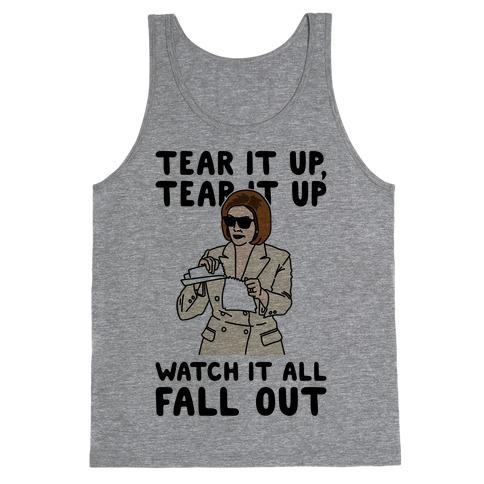 Tear It Up Tear It Up Nancy Pelosi Parody Tank Top