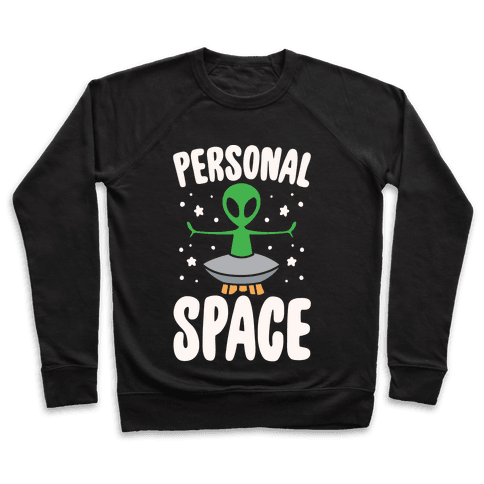 Personal Space White Print Pullover