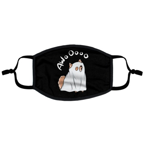 Ghost Dog Flat Face Mask