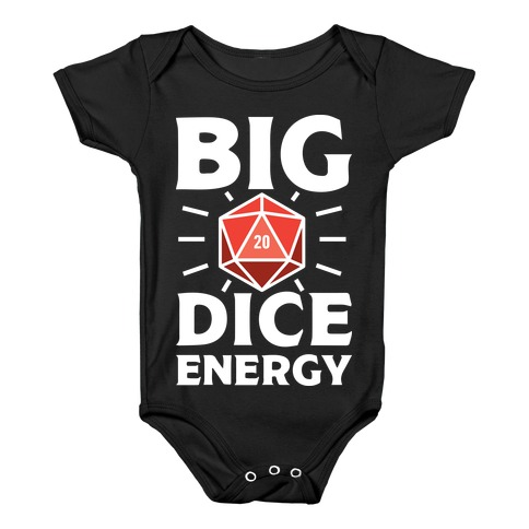 Big Dice Energy D20 Baby Onesy