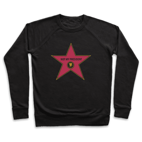 Not My President Hollywood Star Pullover