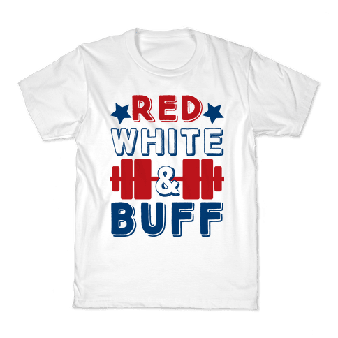 Red, White and Buff Kids T-Shirt