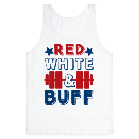 Red, White and Buff Tank Top