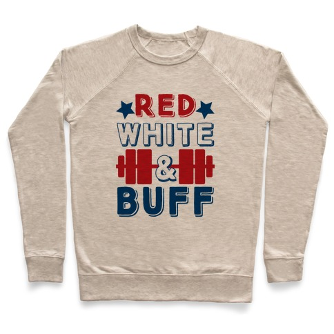 Red, White and Buff Pullover