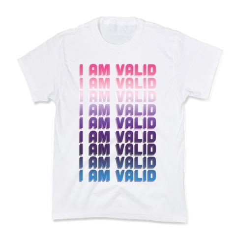 I Am Valid - Genderfluid Kids T-Shirt