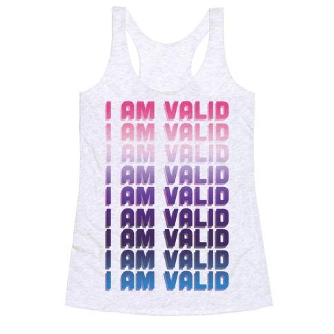 I Am Valid - Genderfluid Racerback Tank Top