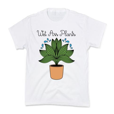 Wet Ass Plants WAP Parody Kids T-Shirt