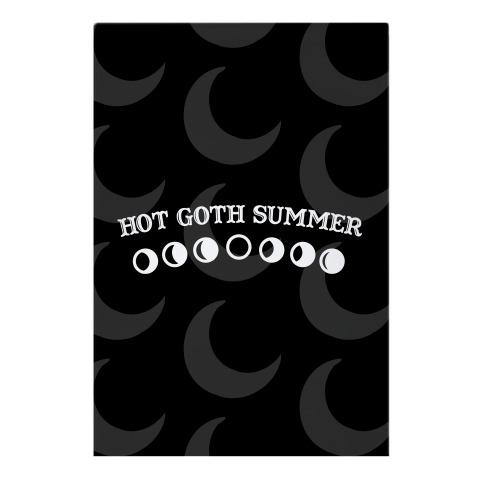 Hot Goth Summer Garden Flag