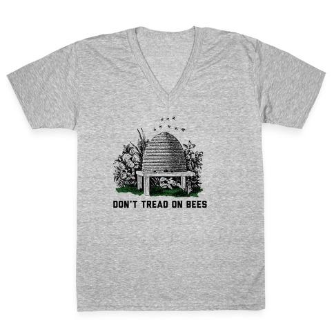 Don't Tread on Bees V-Neck Tee Shirt