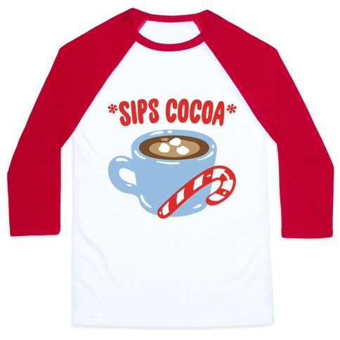 Sips Cocoa Baseball Tee