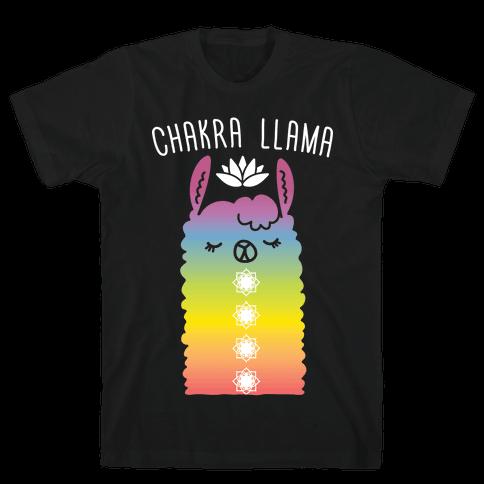Chakra Llama Mens T-Shirt