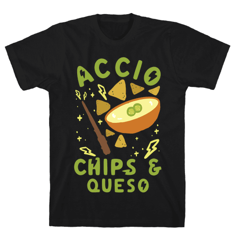 Accio Chips and Queso Mens T-Shirt