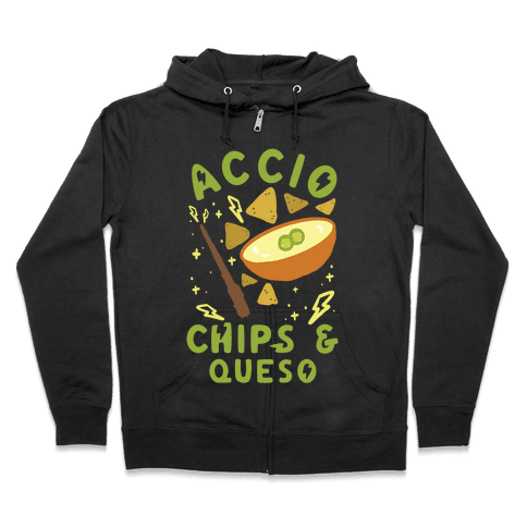 Accio Chips and Queso Zip Hoodie