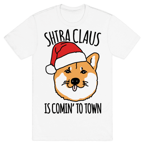 Shiba Claus Is Comin' To Town  Mens T-Shirt