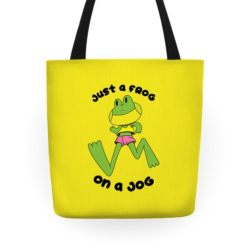 Just a Frog on a Jog Tote