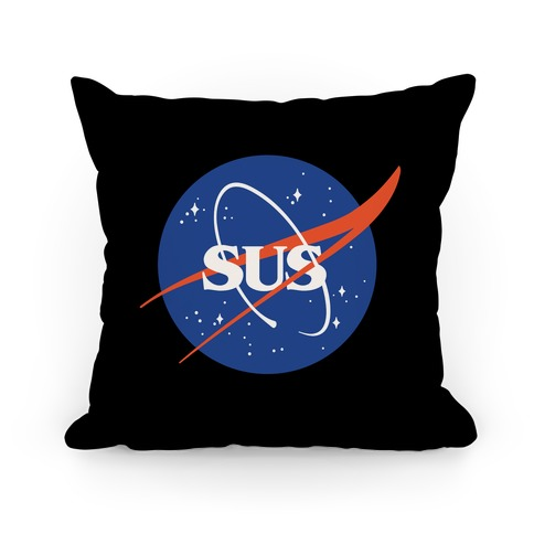 Sus Nasa Logo Parody Pillow